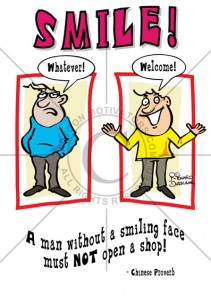 Customer service cartoon, SMILE cartoon, keep smiling motivational cartoon, cartoon motivators, whatever cartoon,