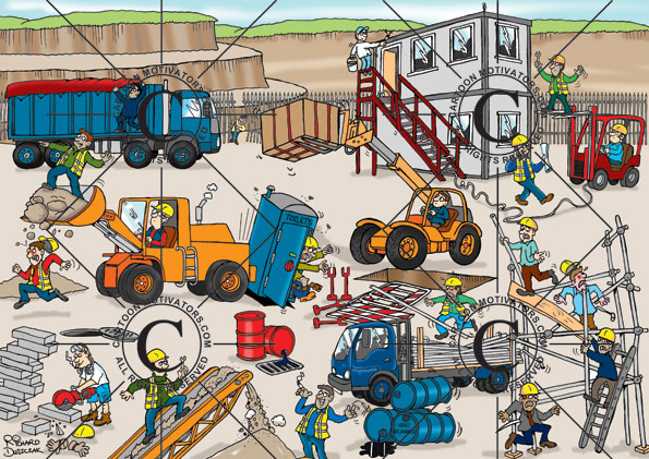 health and safety cartoons, quarry safety illustrated in a cartoon, safety cartoon, quarry safety cartoons