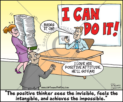 Cartoonist Draws Positive Attitude Cartoons And Has A