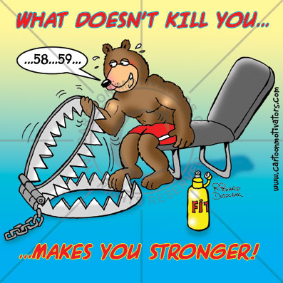 WhatDoesntKillYou Motivational Exercising Quote and Cartoon...