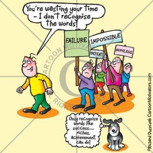negative placards, negative people, ignore them