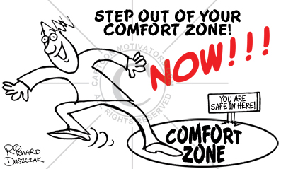 Image result for step out of your comfort zone cartoon pics